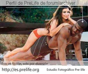Perfil de PreLife de forum/archiver