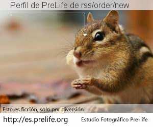 Perfil de PreLife de rss/order/new