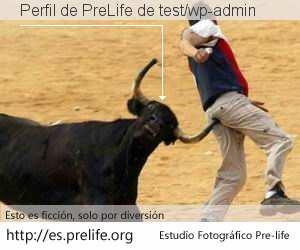 Perfil de PreLife de test/wp-admin