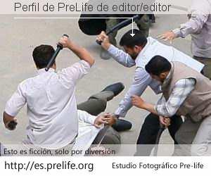 Perfil de PreLife de editor/editor