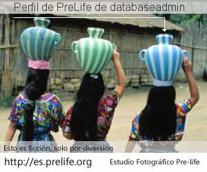 Perfil de PreLife de databaseadmin