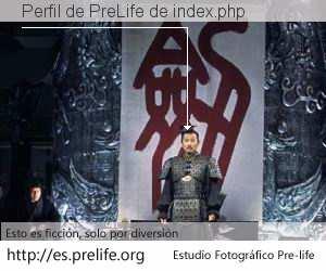 Perfil de PreLife de index.php