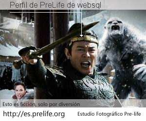Perfil de PreLife de websql