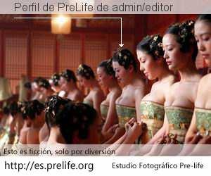 Perfil de PreLife de admin/editor
