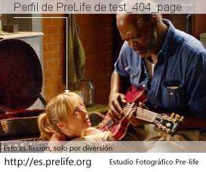 Perfil de PreLife de test_404_page