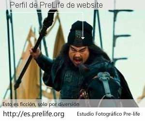 Perfil de PreLife de website