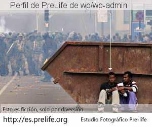 Perfil de PreLife de wp/wp-admin