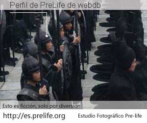 Perfil de PreLife de webdb