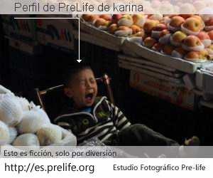 Perfil de PreLife de karina