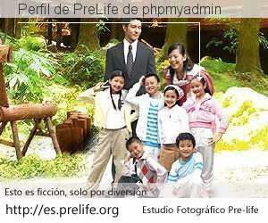 Perfil de PreLife de phpmyadmin