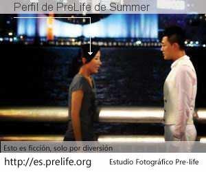 Perfil de PreLife de Summer