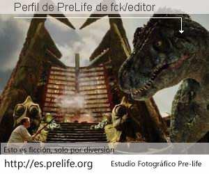Perfil de PreLife de fck/editor