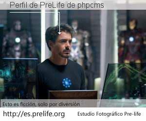 Perfil de PreLife de phpcms